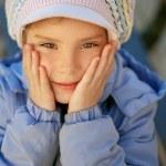 Happy girl-preschooler — Stock Photo