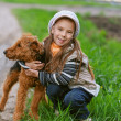 Royalty-Free Stock Photo: Little girl with terrier