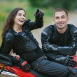 Couple on bike — Stock Photo #11996982