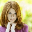 Red-haired beautiful young woman — Stock Photo #12407478
