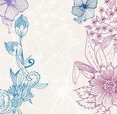 Vacker blommig bakgrund — Stockvektor