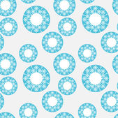 Seamless pattern with blue circles — Stock Vector