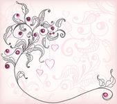 設計のための抽象的な花の背景 — ストックベクタ