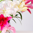 White and pink lily flowers — Stock Photo #11798012