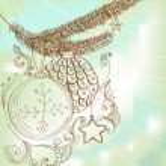 Christmas hand drawn card for Xmas design — Stock Vector
