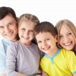Family with children — Stock Photo #11275297