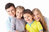 семья с детьми — Стоковое фото