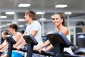 In the gym — Stock Photo