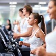 In fitness club — Stockfoto