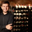 In the wine cellar - Stock Photo