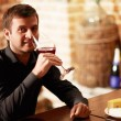 Wine taster - Stock Photo