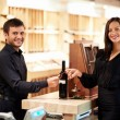 Buying wine — Stock Photo