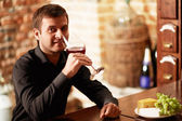 Wine taster — Stock Photo