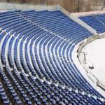 část stadionu pokryté sněhem — Stock fotografie