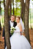 Romantic wedding couple — Stock Photo