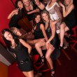 Image of group pretty girls in night club — Stock Photo #10835168