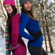 Beautiful young women outdoor in winter — Stock Photo