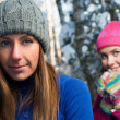 Beautiful young women outdoor in winter — Stock Photo #11729483