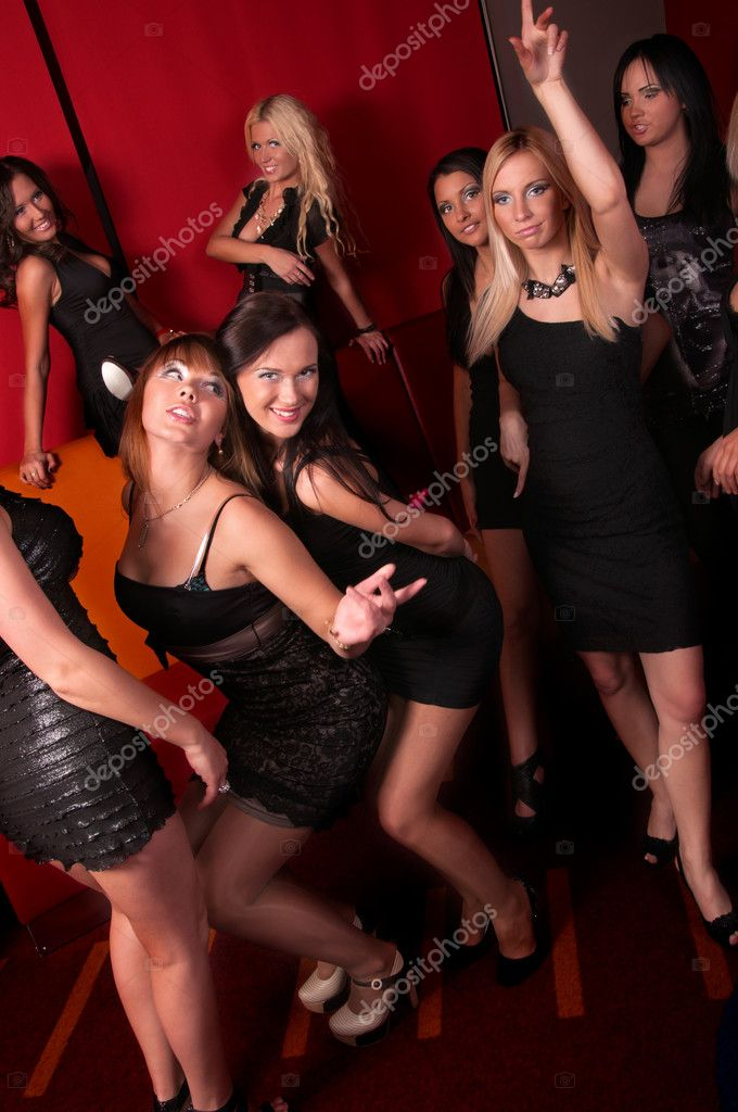 Image of pretty girls dancing in night club  Stock Photo #11729463