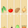Vegetable banners , vector illustration without gradient - Stock Vector