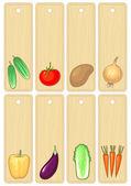 Plantaardige banners, vectorillustratie zonder kleurovergang — Stockvector