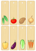 Vegetable banners , vector illustration without gradient — Stock Vector