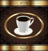 Wzór etykiety do pakowania kawy, filiżanka kawy — Wektor stockowy