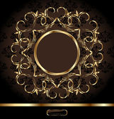 Royal background with golden ornate frame — Vector de stock