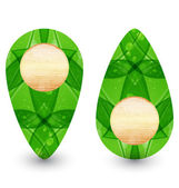Eco friendly wooden icon for web design — Stock Vector