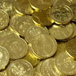 Stock Photo: Background with gold of coins
