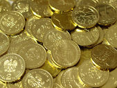 Background with gold of coins — Stockfoto