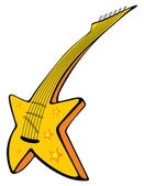 Guitar with stars — Stock Vector