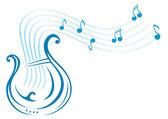 Lyre music — Stock Vector