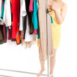 Woman in dressing room — Stock Photo