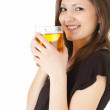 Foto de Stock  : Elegant womwith mug of beer
