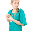 Stock Photo: Bribe in medicine