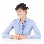 Joven empresaria sonriente — Foto de Stock