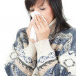 Young woman with allergy or cold — Stock Photo
