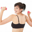 Stock Photo: Fittnes young woman