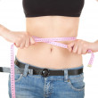 Weight lost young woman — Stock Photo