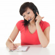 Businesswoman with headset — Stockfoto #11519316