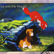 The fox and the hound - Stok fotoğraf