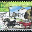 Stamp printed by New Zealand — стоковое фото #10758926