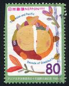 марку, напечатанную японии — Стоковое фото