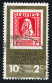 Stamp printed by New Zealand — Stock Photo