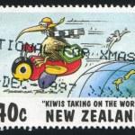 Kiwi flying on bee — Stock Photo