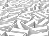Sfondo di alfabeti — Foto Stock