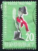 Stamp printed by Uruguay — Stock Photo