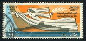летающие женщина с конусом — Стоковое фото