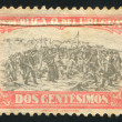 URUGUAY - CIRCA 1925: stamp printed by Uruguay, shows Landing of the 33 Immortals Led by Juan Antonio Lavalleja, circa 1925 — Stock Photo